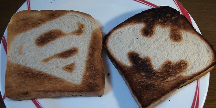 grille pain super-héros toast toaster superman batman custom
