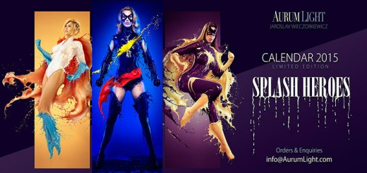 calendrier pin up super heroines lait aurumlight photos canon catwoman batgirl marvel girl