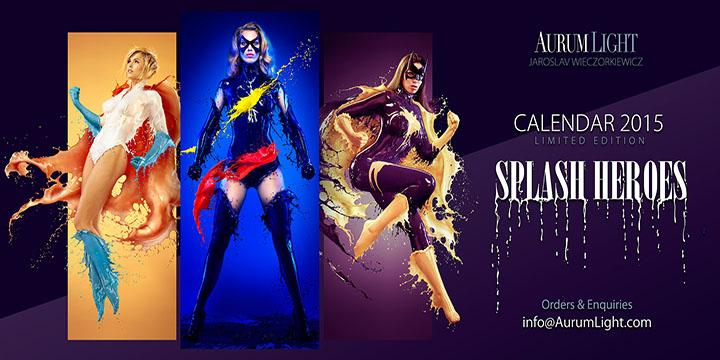 calendrier pin up super heroines lait aurumlight photos canon catwoman batgirl marvel girl