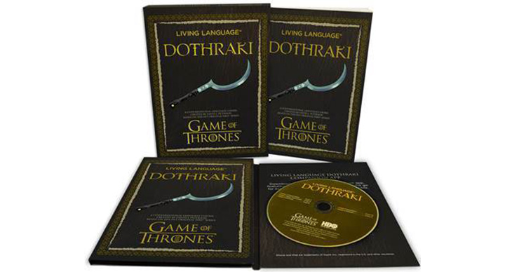apprendre le dothraki langue Game of Thrones livre cd audio