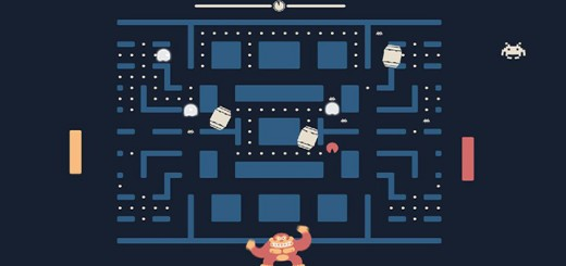 Pacapong jeu Pac-Man Pong Space Invaders mash up