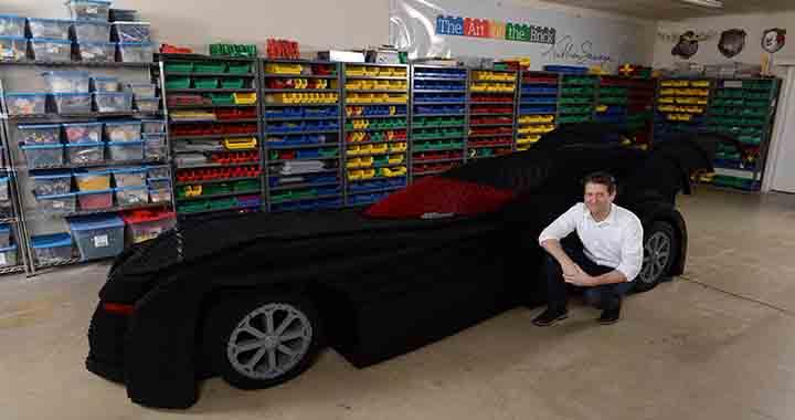 Lego Batmobile grandeur nature (1)