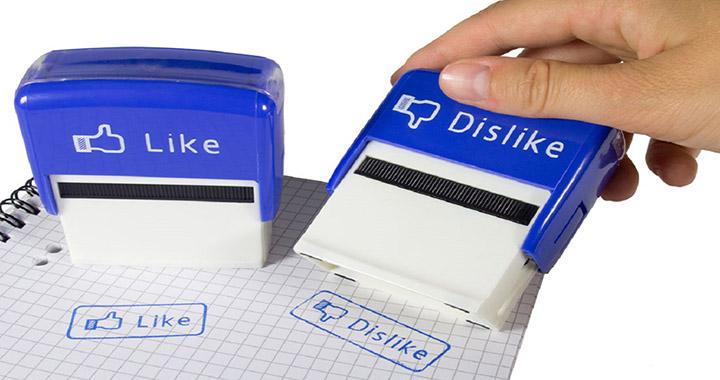 tampon like dislike facebook