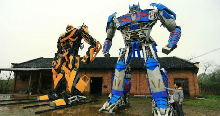 Transformers construits chine voitures pièces recyclage (6)