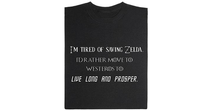 zelda game of thrones t shirt