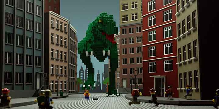 animation lego serpent dino ville