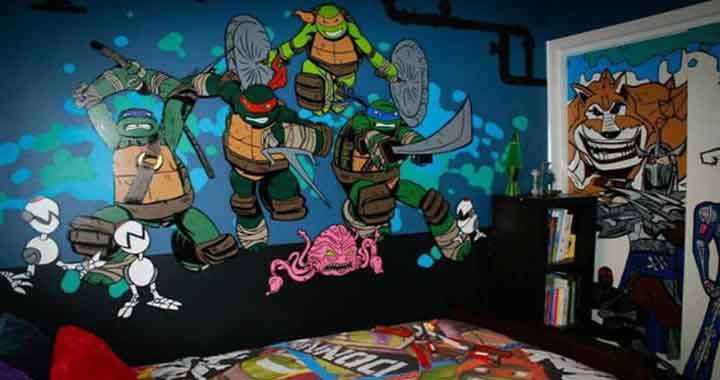 chambres tortues Ninja