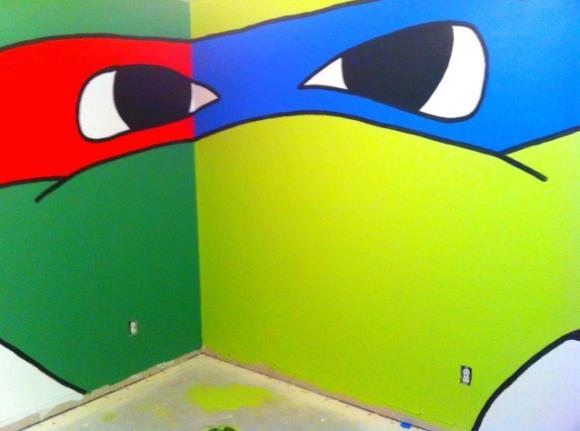 Chambres aux couleurs des tortues ninja geekoupasgeek - Tortue ninja couleur ...