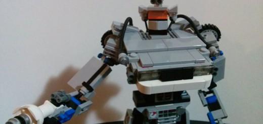 delorean lego robot