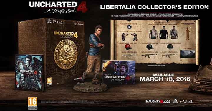 edition collector uncharted 4