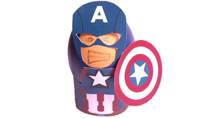 oeuf geek paques peint super heros captain america watchmen zombie superman
