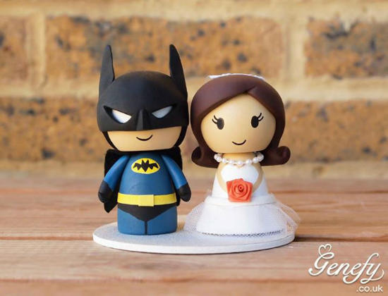 Comic Book Wedding Cake Toppers
