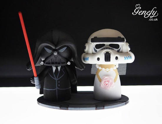 des cake toppers de g teau de mariage geek geekoupasgeek. Black Bedroom Furniture Sets. Home Design Ideas