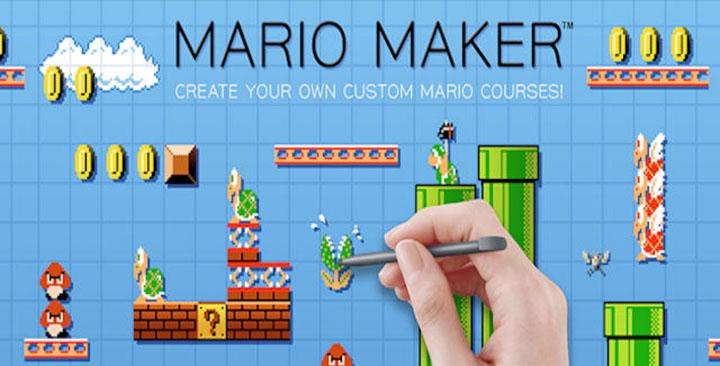 mario maker retro jeu gamepad
