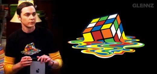 t-shirt sheldon cube rubik big bang theory
