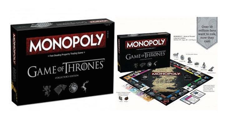 monopoly game of thrones jeu de plateau société trône de fer