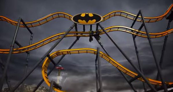 montagne russe batman dc 4d six flags