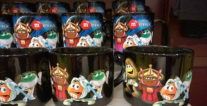 mugs m&m's star wars world store lili gomes feat