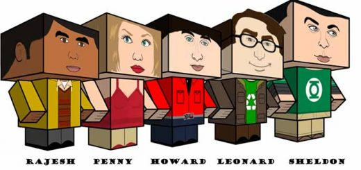 papercraft Big Bang Theory