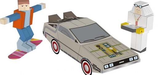 papercraft retour vers le futur