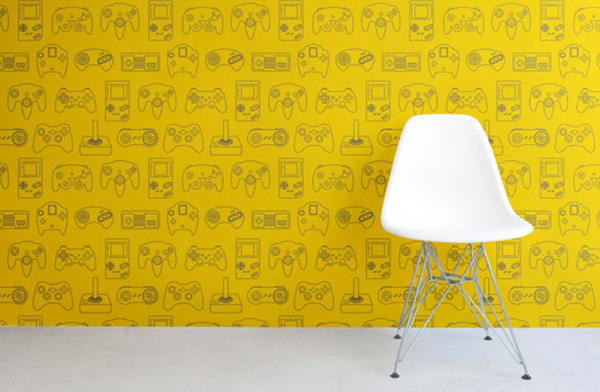 Gayez votre salle de jeu avec un papier peint jeux vid o geekoupasgeek - Papier peint salle de jeux ...