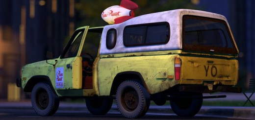 pizza planet pixar jeep camion cinema films cameo toy story