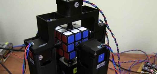 robot plus rapide au monde rubik's cube