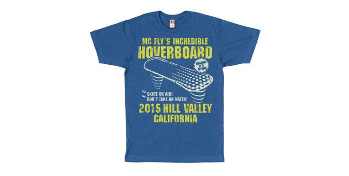 t-shirt hoverboard retour vers le future