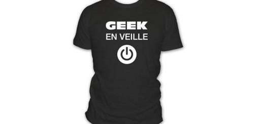 t-shirt geek en veille