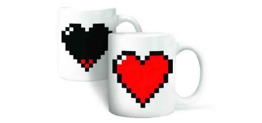 tasse coeur pixelisé saint valentin