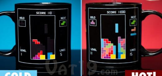Tasse magique Tetris mug heat change retro