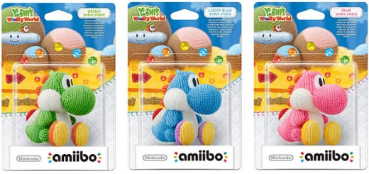 yoshi's woolly world amiibo wii u nintendo laine figurines jeux videos